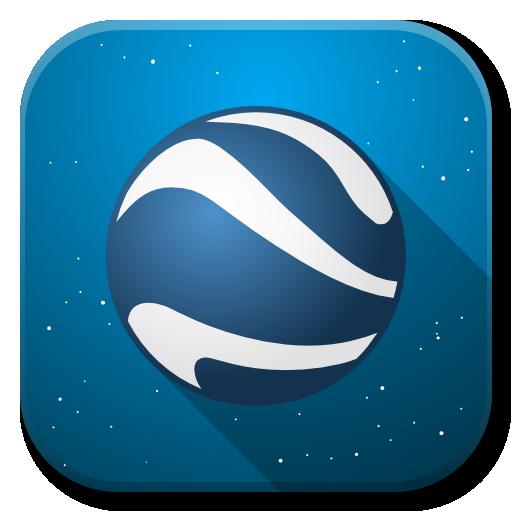 Apps Google Earth Icon Flatwoken Iconset Alecive