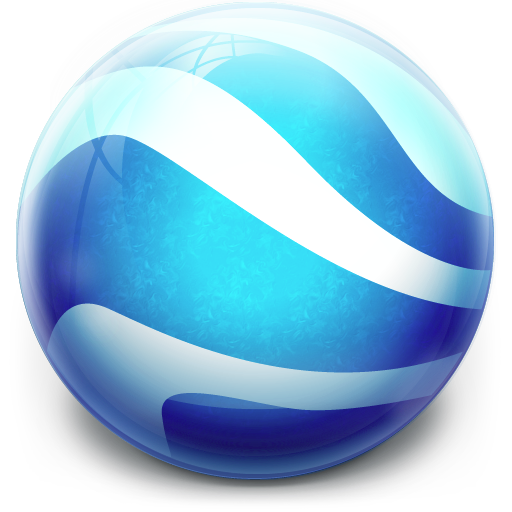 Google Earth Icon Glow Ball Iconset