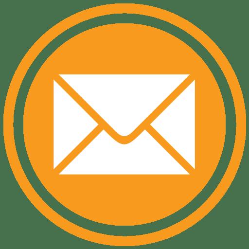 Email Icon Orange Transparent Png