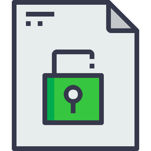 Office, Unlock, Page, Document, Paper, Message, Business, Form Icon