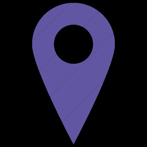 Simple Purple Raphael Location Icon