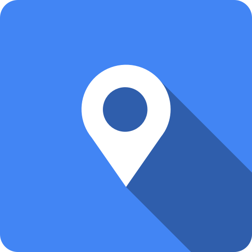 Blue, Google, Google Map, Google Maps, Maps, Shadow, Square Icon