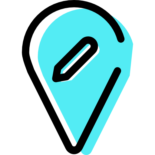 Pin, Cloud, Map Pointer Icon