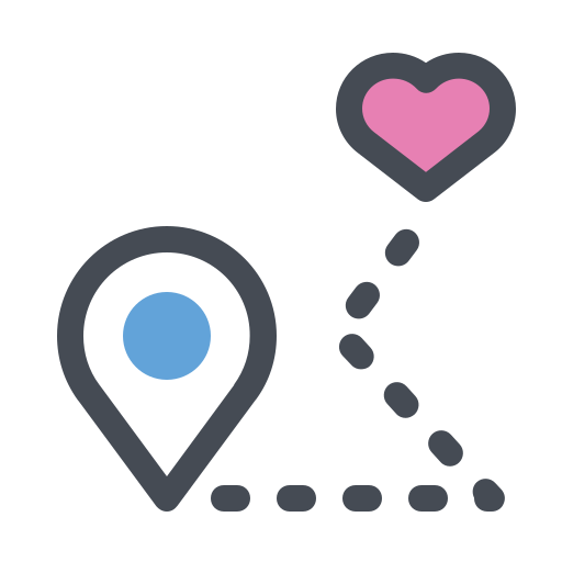 Love, Locate, Location, Map, Heart, Pointer Icon Free Of App