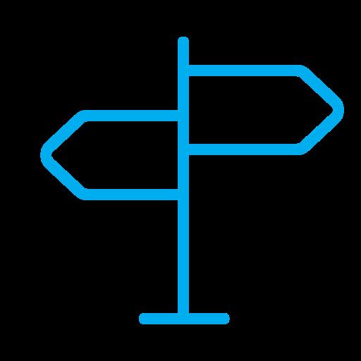 Roadmap, Arrow, Navigator, Navigation, Map, Pointer Icon