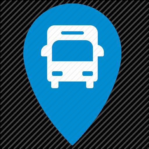 Bus, Geo, Location, Map, Point, Traffic, Transport Icon