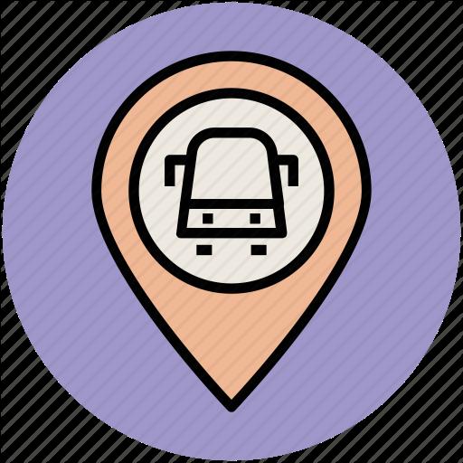 Bus Location Pin, Bus Stop Location, Location Marker, Map Locator