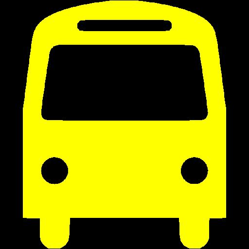 Yellow Bus Icon