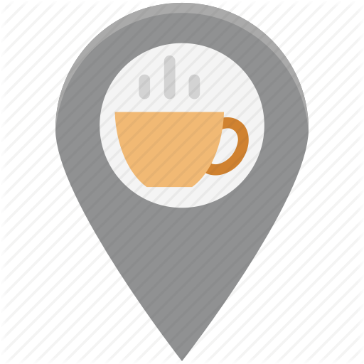 Coffee Location, Coffee Shop, Location, Tea Shop, Tea Stall Map Icon