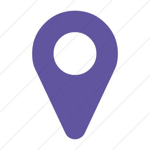 Simple Purple Bootstrap Font Awesome Map Marker Icon