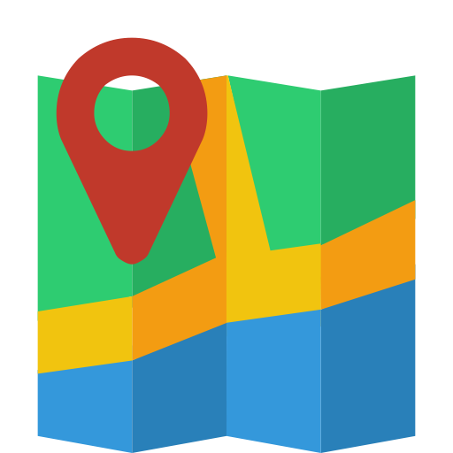 Flat Map Icon Images
