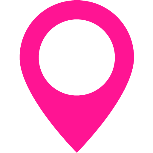 Deep Pink Map Marker Icon