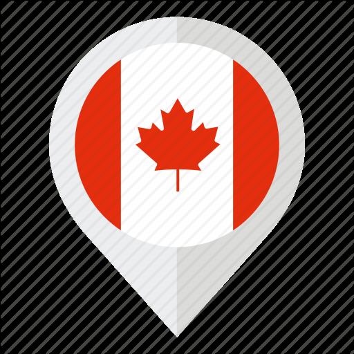 Canada, Canada Flag, Country, Flag, Geolocation, Leaf, Map Marker Icon