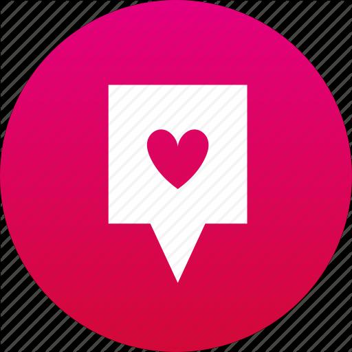Favorite, Heart, Map Marker, Marker Icon