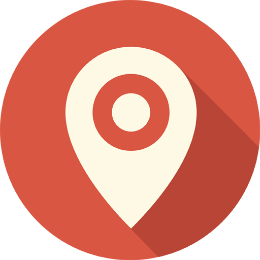 Maps Pin Place Icon Long Shadow Media Iconset Pelfusion