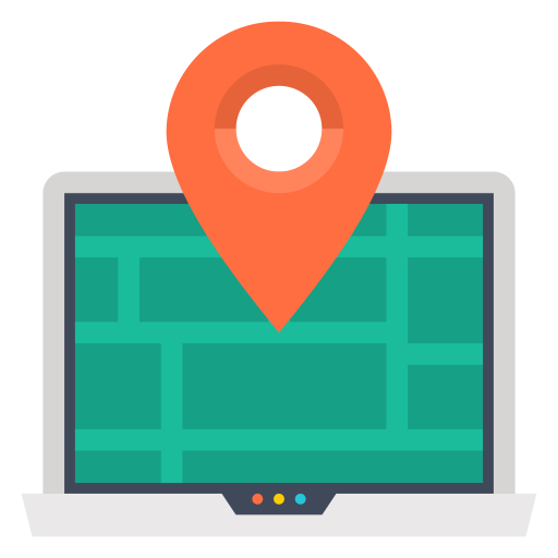 Online, Map, Laptop, Map Marker Icon Free Of Internet