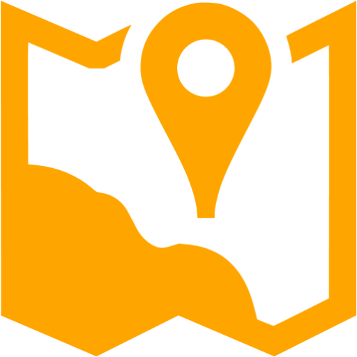 Orange Map Marker Icon