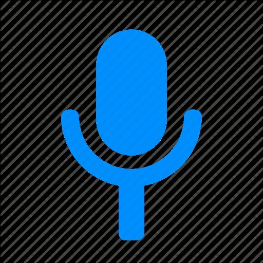 Blue, Mic, Microphone, Minimalist, Record Icon