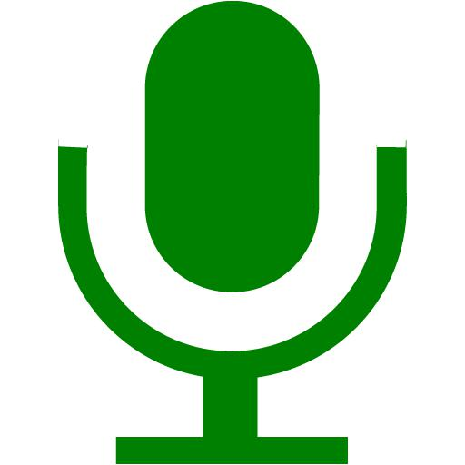 Green Microphone Icon