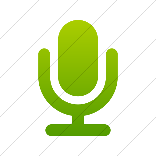 Simple Green Gradient Foundation Microphone Icon