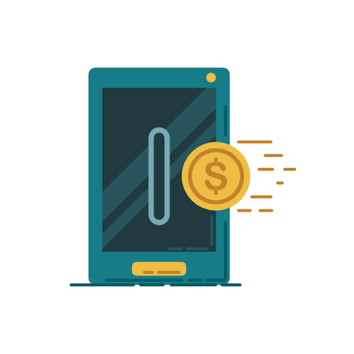 Money, Coin, Phone, Pay Icon Free Of Banking Icons Vector