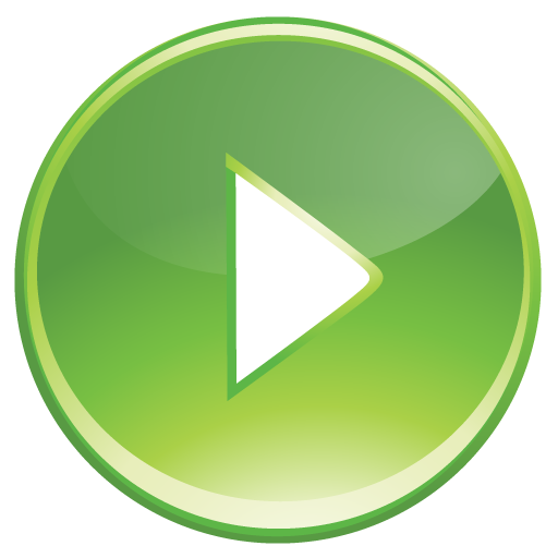 Controls, Green, Play Icon