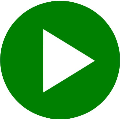 Green Video Play Icon