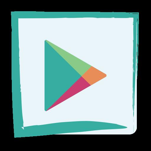 Google Play Store, Media, Social Icon