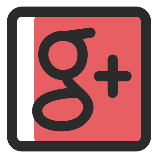 Google Plus Colored Stroke Icon