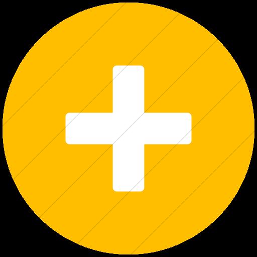 Flat Circle White On Yellow Broccolidry Plus Icon