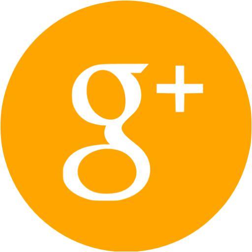 Orange Google Plus Icon