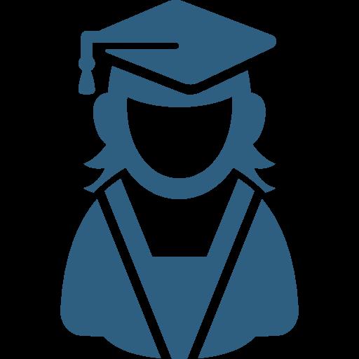 Female Graduate User Icon