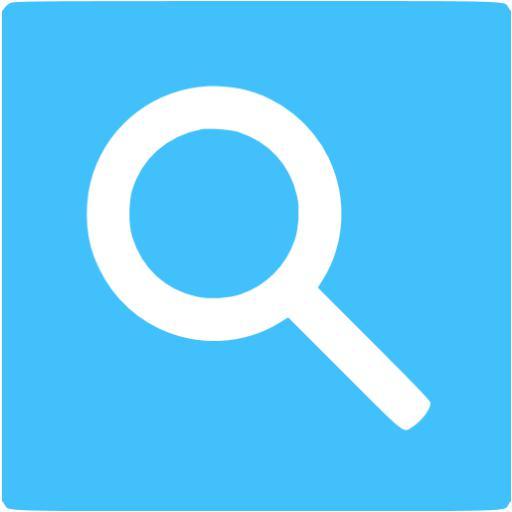Caribbean Blue Google Web Search Icon