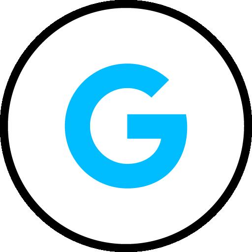 Google Search Free Social Media Blue Round Outline Icon Design