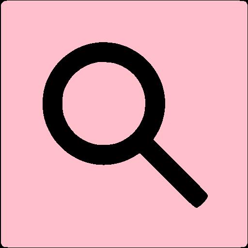 Pink Google Web Search Icon