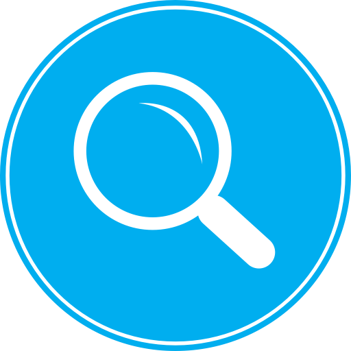 Magnifying Glass Icon Blue Images