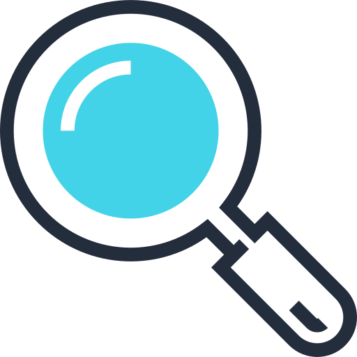 Loupe, Search, Find, Locate, Magnifying Glass Icon Free Of Design