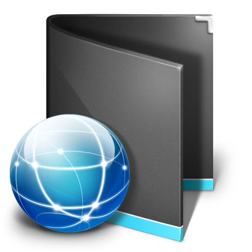 Sites Folder Black Icon