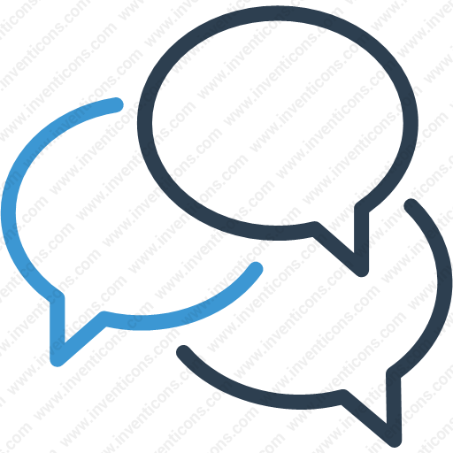 Download Chat Bubbles,chat,message Bubbles,talk Icon Inventicons