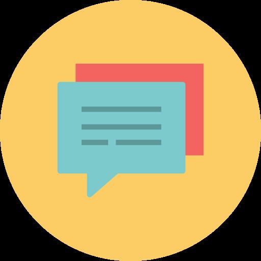 Speech, Bubbles, Conversation, Talk Icon Free Of Flat Retro