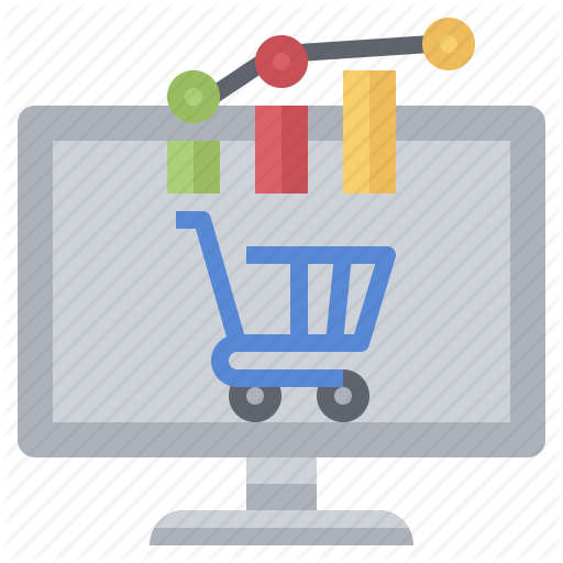 Cart, Commerce, Graph, Market, Shopping, Stats, Trends Icon