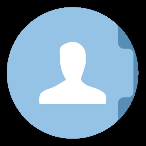 Folder Users Icon The Circle Iconset Xenatt