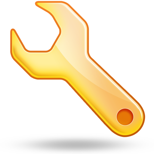 Yellow Wrench Icon Download Free Icons