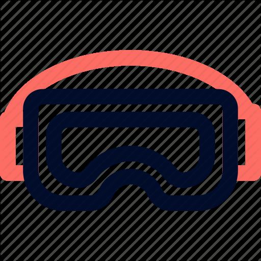 C Googles, Line, Minimalist, Swimming Icon