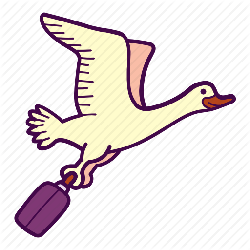 Bird, Case, Fly, Goose, Suitcase, Travel Icon