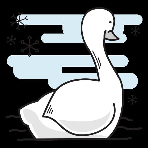Christmas, Bird, Duck, Swimming, Goose, Swan Icon