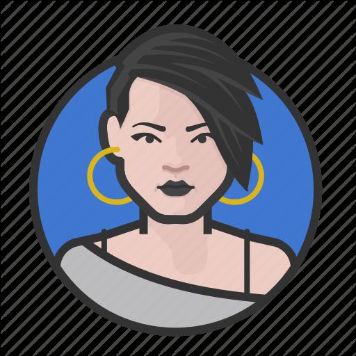 Caucasian, Emo, Goth, Punk, Woman Icon