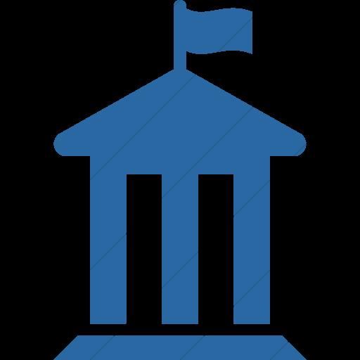 Simple Blue Iconathon County Government Icon
