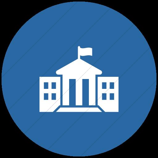 Flat Circle White On Blue Iconathon State Government Icon