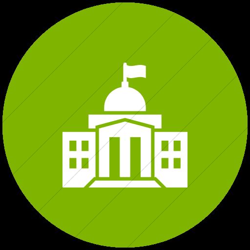 Flat Circle White On Green Iconathon Federal Government
